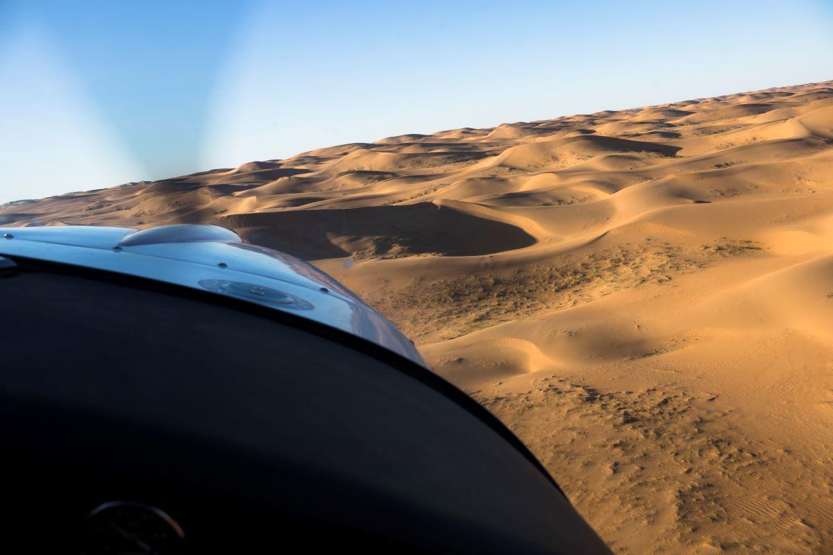 Alpi Aviation over Gobi Desert
