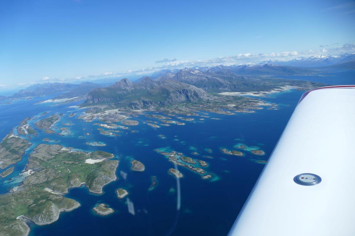 Alpi Aviation over Lofoten Islands